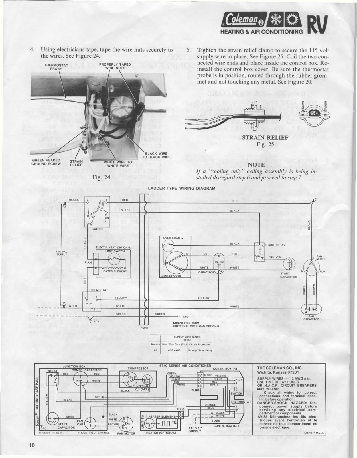 coleman rv air conditioner wiring diagram sony cdx gt71w 1983 fleetwood pace arrow owners manuals